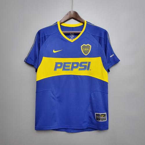 0304 Boca Juniors Home  Retro Jersey