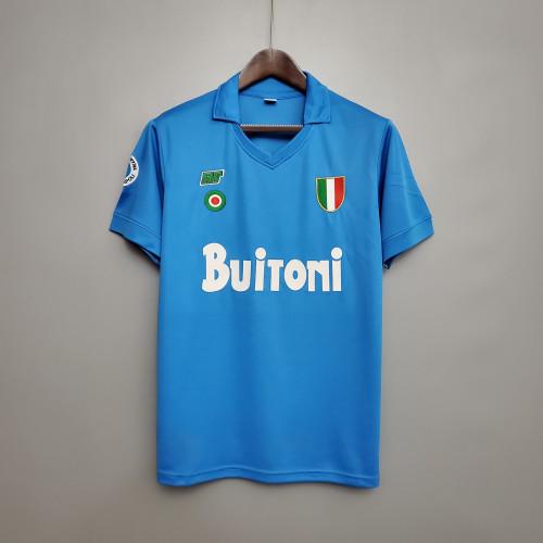 87-88  Napoli Home Retro Jersey