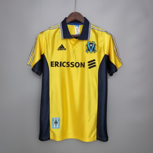 98-99 Marseille Yellow Retro Jersey