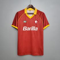 90-91  Roma Home Retro Jersey
