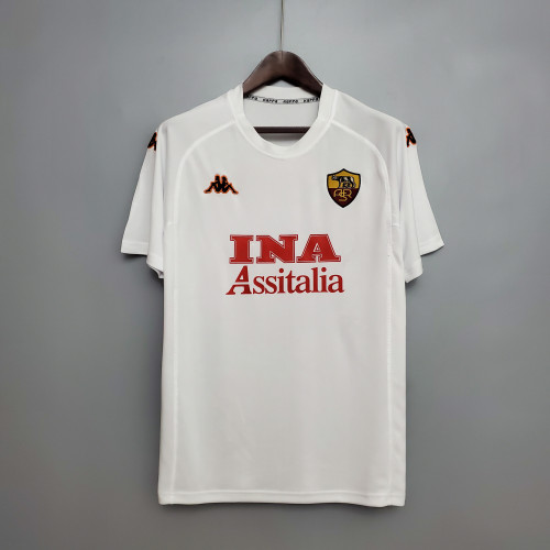 00-01 Roma Away  Retro Jersey