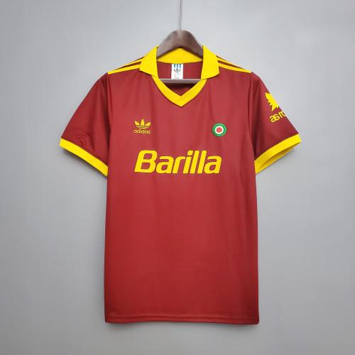 91-92 Roma Home Retro Jersey