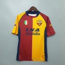 01-02  Roma Home Retro Jersey