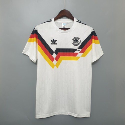 1990 Germany White Retro Jersey
