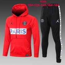 20-21 PSG Jordan Red Hoodie Kid Training suit