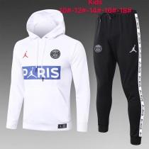 20-21 PSG Jordan White Hoodie Kid Training suit