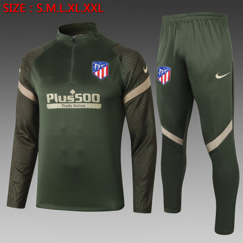20-21 Atletico Madrid  green army Training Suit