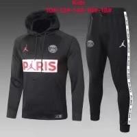 20-21 PSG Jordan Black Hoodie Kid Training suit
