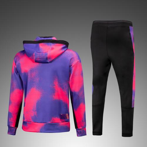 21-22 PSG Pink Jordan Hoodie Suit