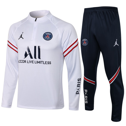 21-22 PSG Jordan WhiteTraining suit