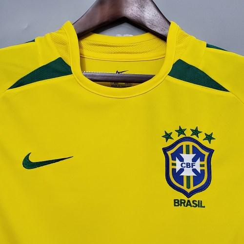 2002 Brazil Home Retro Jersey