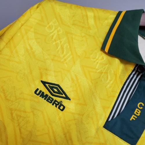 91-93 Brazil Home Retro Jersey