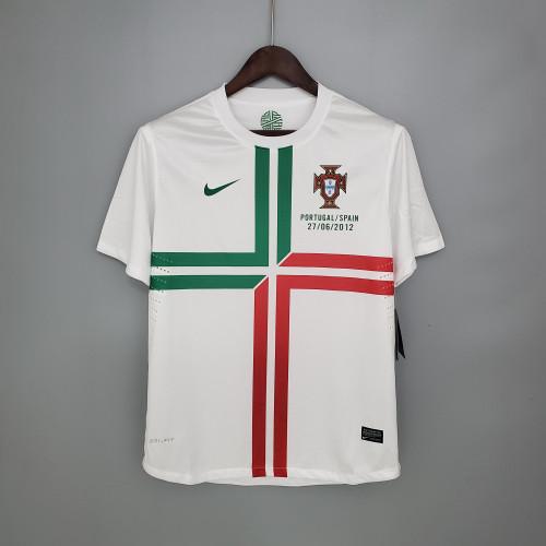 2012 Portugal White Retro Jersey