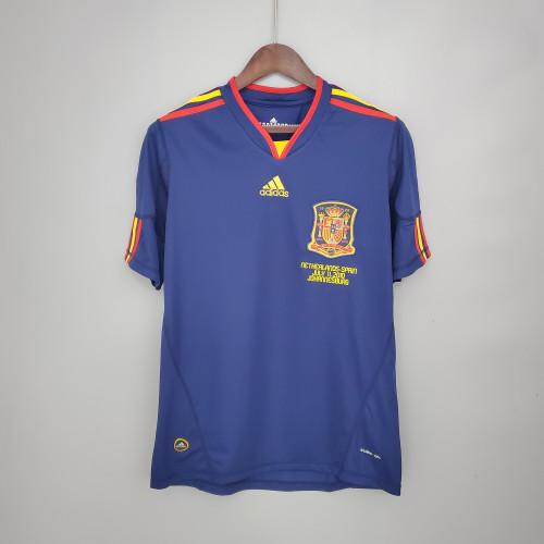 2010 Spain Away  Retro Jersey