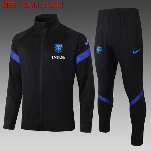 2020 Netherlands Black Kid Jacket Suit
