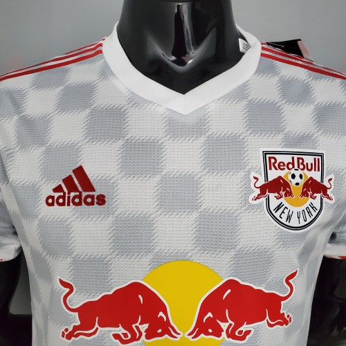 21-22 New York Red Bull Home White Player Jersey
