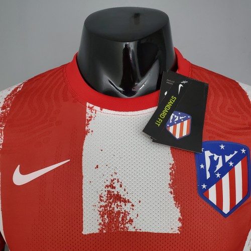 21-22  Atletico Madrid  Home Player Jersey