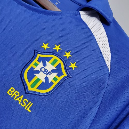 2002 Brazil Away  Retro Jersey
