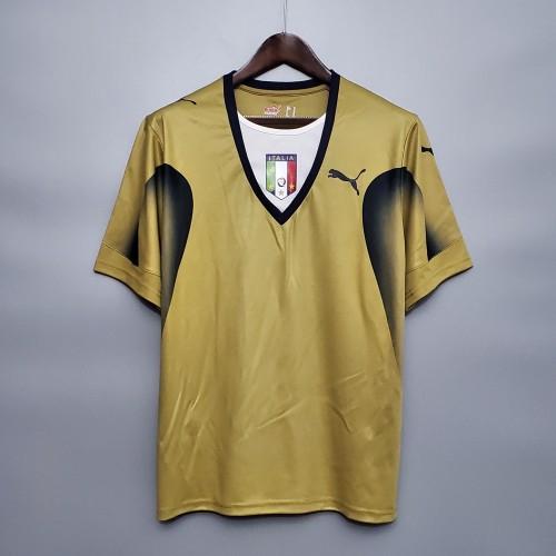 2006  Italy Golden Retro Jersey