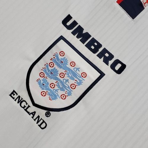 1998 England Home  Retro Jersey