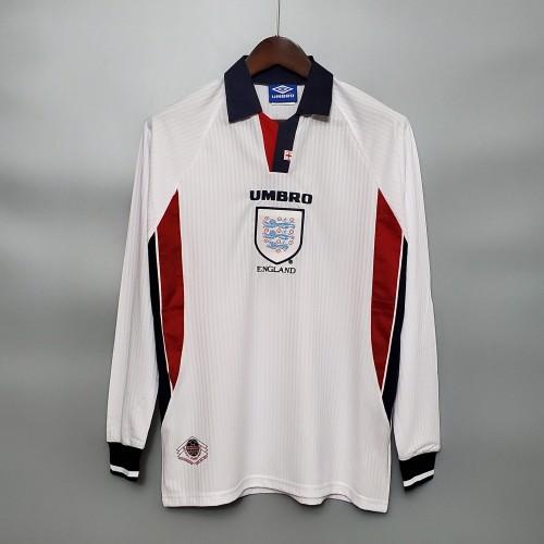 1998 England Home Long Sleeve Retro Jersey