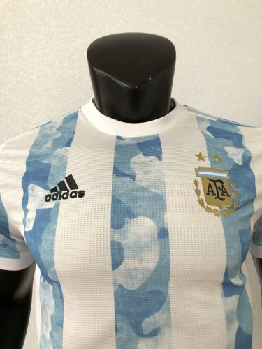 2020 Argentina Home Player Jersey
