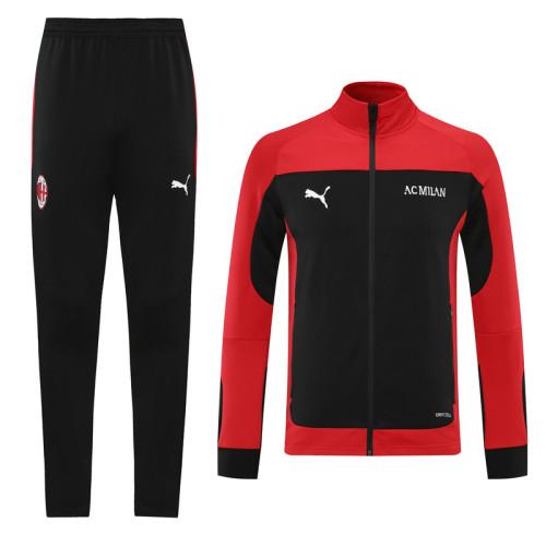21-22 AC Milan Red-Black Jacket Suit