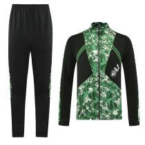21-22 Man City Black-Green Jacket Suit