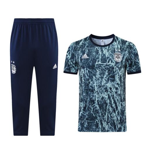 21-22 Argentina Blue training Suit(cropped pants)