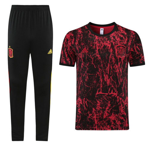 21-22 Spain Red training Suit(long pants)