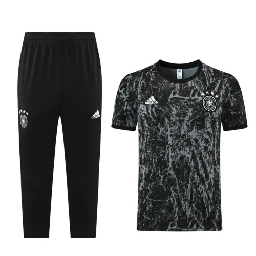 21-22 Germany Black training Suit(cropped pants)