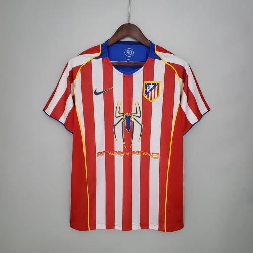04-05 Atletico Madrid Home  Retro Jersey