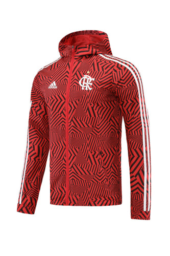 21-22 Flamengo Red-Black Stripes Windbreaker S-XXL