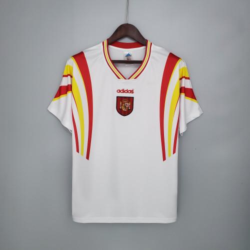 1996 Spain Away  Retro Jersey