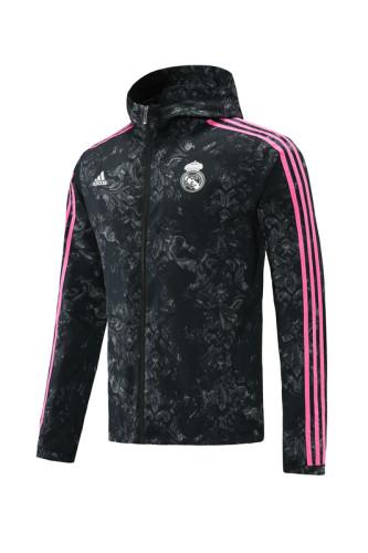 21-22 Real Madrid Black-Pink Windbreaker S-XXL