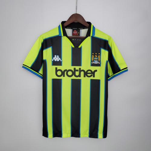 98-99 Manchester City Away  Retro Jersey