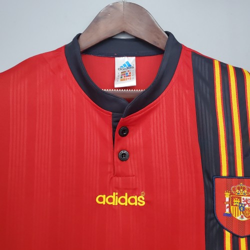 1996 Spain Home  Retro Jersey