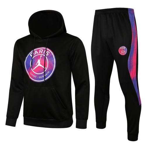 21-22 PSG Jordan Black Hoodie Suit