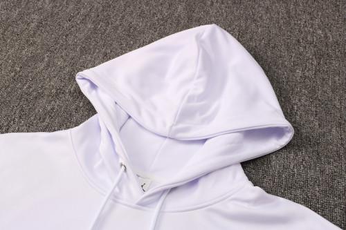 21-22 PSG-Jordan White Hoodie Suit