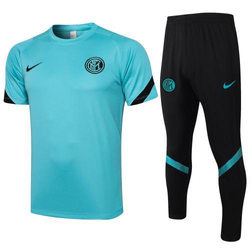 21-22 Inter Milan Green Short Sleeve Suit