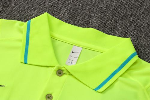 21-22 Inter Milan fluorescent green Polo Short Sleeve Suit