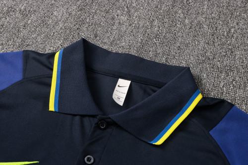 21-22 Tottenham Hotspur royalblue Polo Short Sleeve Suit