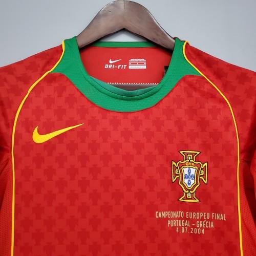 2004 Portugal Home Retro Jersey