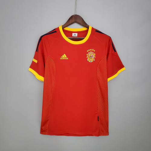 2002 Spain Home  Retro Jersey