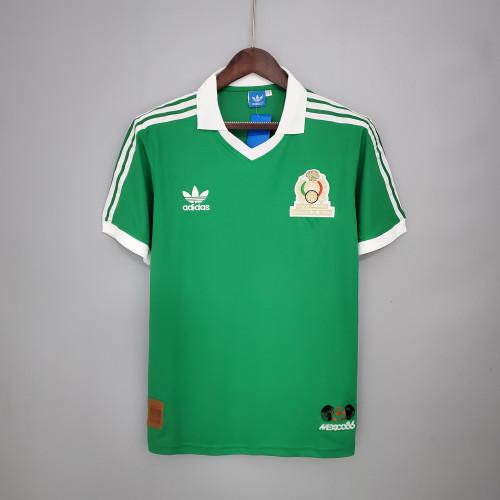 1986 Mexico  Home Retro Jersey