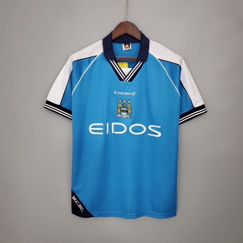 99-01 Manchester City Home  Retro Jersey