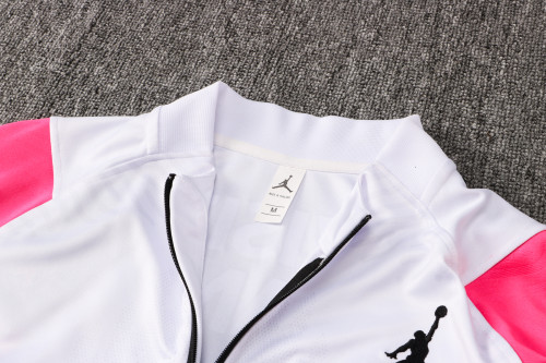21-22 PSG Jordan White-Pink Training suit