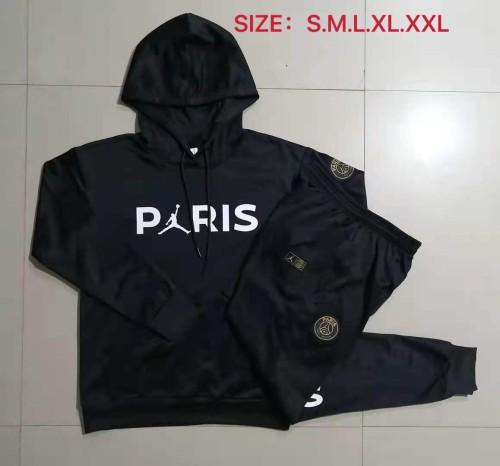 21-22 PSG-Jordan Black Hoodie Suit