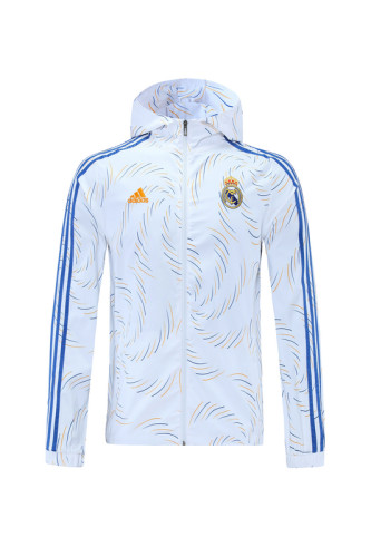 21-22 Real Madrid White Windbreaker S-XXL