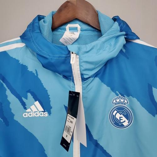 21-22 Real Madrid Blue Windbreaker
